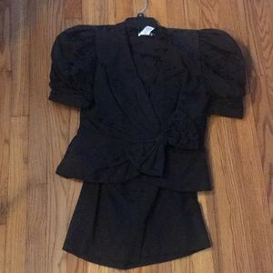 Black on black Dress suit